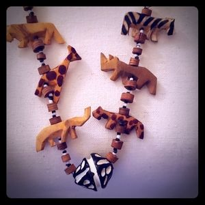 African animal necklace